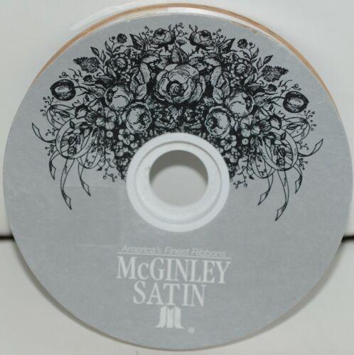 McGinley Satin 100666 White Acetate Ribbon 100 yd  Pkg 1 Spool