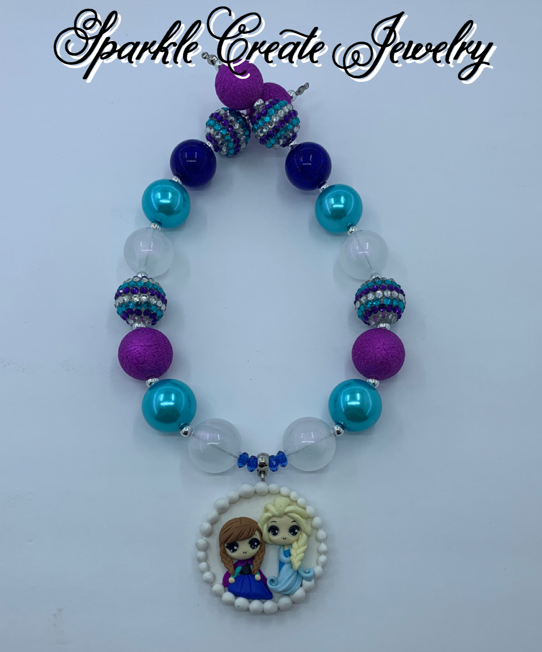 Frozen Clay Chunky Bubblegum Necklace