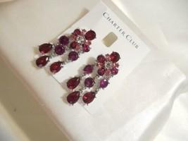 "Charter Club 2"" Silver Tone Crystal Jeweled Dangle Drop Earrings A723 $39 - $14.39"
