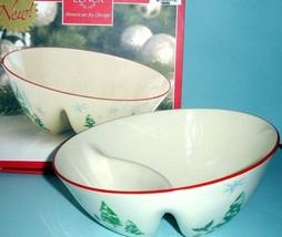 "Lenox Serving Bowl Divided Angle 8.75"" Holiday Inspirations & Illustrations New - $23.90"