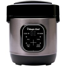 Magic Chef MCSRC03ST 3-Cup Stainless Steel Rice Cooker - £37.17 GBP