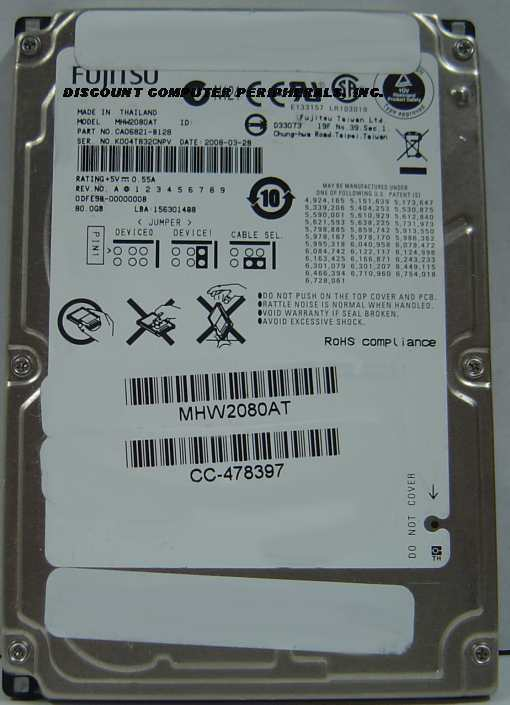 "80GB 2.5"" IDE Drive Fujitsu MHW2080AT Tested Free USA Ship Our Drives Work"