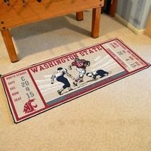 "Fanmats NCAA Washington State Cougars Ticket Runner Mat Area Rug Large 30"" x 72"" - $54.44"