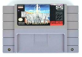 Sid Meier Civilization SNES Game Cartridge Vtg RPG Super Nintendo Tested Works - $24.74