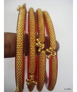 22k gold bracelet bangle set 4pc. handmade tribal jewelry - $2,128.50