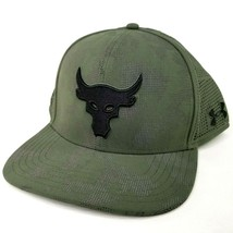 Under Armour X Project Rock Brahma Bull Snapback Hat Adjustable Cap Gree... - $46.74