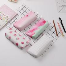 Lovely Strawberry Faux Leather Pencil Case Bag Girls Stationery School S... - $10.99