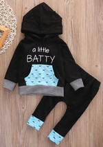 NWT Boys Black Hooded Sweater Pants Halloween Bat Outfit 2T 3T 4T - $12.99