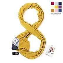 Infinity Scarf Travel Scarf with Pockets - Hidden Zipper Pocket Scarf Ye... - $21.00