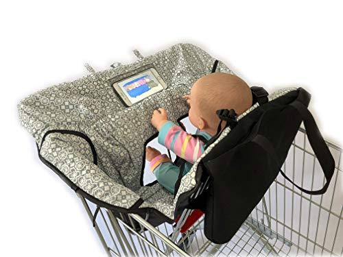 Primary image for Waterproof 2-in-1 Baby Shopping Cart Cover & High Chair Covers with Safety Harne