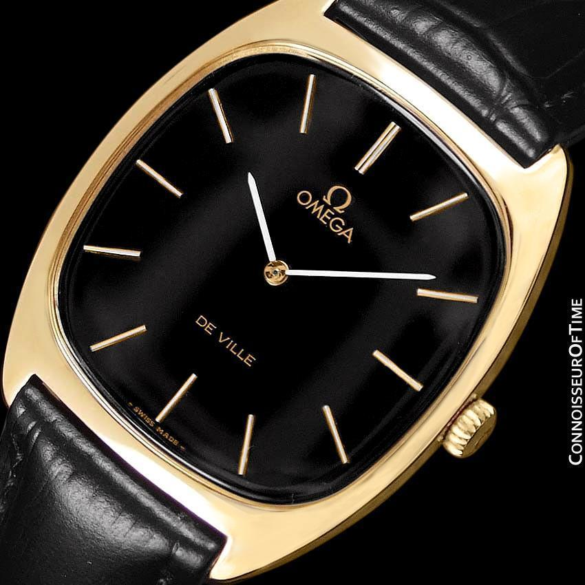 1978 OMEGA DE VILLE Vintage Mens 18K Gold Plated Watch - Mint with 1 Yr Warranty