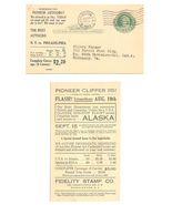1939 Fidelity Stamp Co Advert for Covers UY7r Preprinted Reply Postal Ca... - $18.95