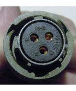 NOS Military Bendix 3 Pin Female Power Connector with Black Insulator, P... - $8.86