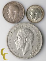 Ottima Britain George v Monete Lot ( Xf-Au ) 1918 Scellini 1926 Sixpence... - $102.55