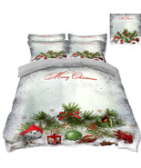 3D Christmas  Xmas 331 Bed Pillowcases Quilt Duvet Cover Set Single Quee... - $90.76