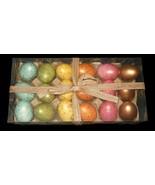 18 Speckled Robins Nest Eggs Decor Basket Bowl Filler NEW FREE SHIPPING - $29.69