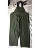 Helly-Hanson Wet Storm Bib Overall Pants L with Suspenders Green - $32.71