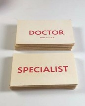 Operation Skill Game Replacement Cards Smoking Doctor Milton Bradley 1965 4545 - $9.79