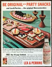 1964 Lea & Perrins Worcestershire Sauce Print Ad Be Original w Party Snacks - $7.82
