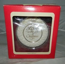 NIB Carlton Cards 1993 Love is the Gift of Christmas Ornament - $19.80