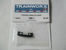 Trainworx Stock #180-1 Snowplow Common Slope Top Black N-Scale image 3