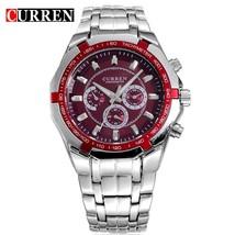 Waterproof 30M  Watch For Men CURREN Fashion Stainless Steel Wristwatch 8084 Cas - $46.06