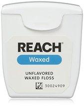 REACH Dental Floss, Waxed, Unflavored 55 yds - $4.95