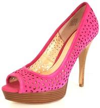 ENZO ANGIOLINI SULLY Women's Hot Pink Suede Platform Peep Toe Stiletto P... - $30.92