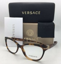 New VERSACE Eyeglasses VE 3205-B 5061 52-16 Tortoise & Gold Frame with Crystals