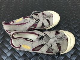 KEEN Women's Coronado Bungee Taupe Maroon Canvas Slip On Sandals Size 8.... - £11.59 GBP