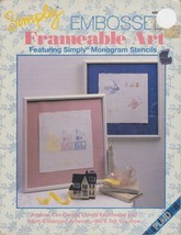 Plaid Simply EMBOSSED Frameable Art Featuring Monogram Stencils Paint 1991 - $4.99