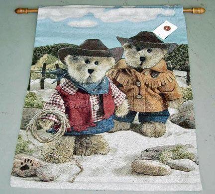 On the Range Boyd Bear Tapestry of Fine Art