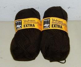 2 Skeins Color 7713 Schachenmayr Nomotta Brown Yarn Wool 15336 Vintage - $8.75 CAD