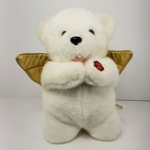 Goffa Bedtime Prayer Bear Plush Praying Teddy White With Gold Accents Easter - $24.18