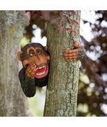 Monkey Tree Hugging Garden Decoration Outdoor Lawn Yard Decor Hugger Fig... - $28.59