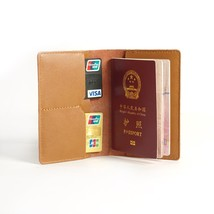 Passport Cover Handmade Leather Case Credit ID Card Organizer Passport P... - $15.99