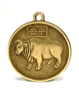 """YEAR of the OX GOOD LUCK CHARM 1"""" Chinese Zodiac Horoscope Feng Shui New... - $7.95"""