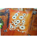 Daisy Pillow Crewel Embroidery craft Kit Cool Retro MCM home decor unuse... - $57.23