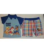 New Baby Paw Patrol Outfit Sizes 12 18 24M Blue Polo Shorts Marshall Rubble - $11.99