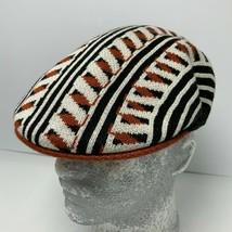 Men's Kangol Black White Orange Retro Geo 504 Cap - $79.00