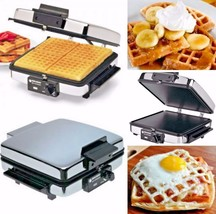 3 In 1 Waffle Maker Electric Indoor Grill And Griddle Flat Sandwich Pres... - $95.18 CAD