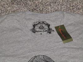 I Love Moustaches Short Sleeve T-Shirt, Men's Large, Gray, NWT image 3