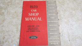 Ford 1970 Car Shop Manual Volume Five Pre-Delivery,/Maintenance/Lubricat... - $23.36
