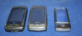 LOT OF 3 OLD VINTAGE USED CELL PHONES FLIP PHONES - untested - See Pictures - $19.55