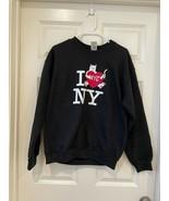 RIPNDIP WOMEN'S I LOVE NEW YORK BLACK LONG SLEEVE SWEATER - $59.99