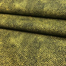 Dimples fabric by Gail Kessler for Andover 1867 Gold Black 100% Cotton 2... - $5.99