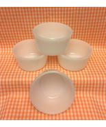 Vintage Glasbake white milk glass ramekins set of 4 custard cups baking - $2.00