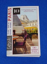 BRAND NEW EXTRAORDINARY PARIS CITY MAP AND PLAN GUIDE CROWNE PLAZA METRO... - $4.99