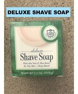 VAN DER HAGEN DELUXE WITH ALOE VERA & SHEA BUTTER SHAVE SOAP FOR DRY SKI... - $2.99