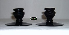 Fenton Black no. 318 Candlesticks pair Vintage - $24.95